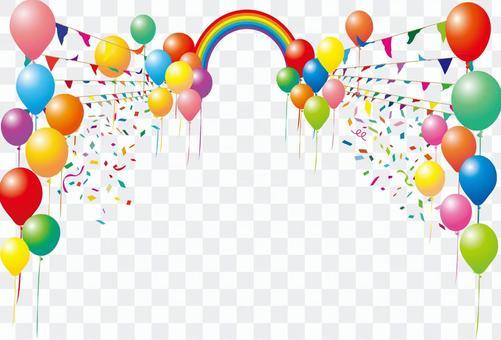 加蘭國旗體育氣球氣球彩虹框架