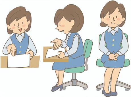 Female employee 1-3