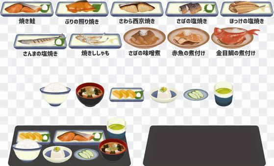 和食の魚料理イラストセット_118