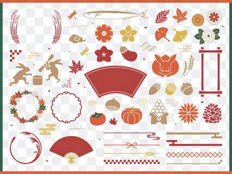 秋季簡單框架和插圖