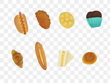 可愛的麵包店集