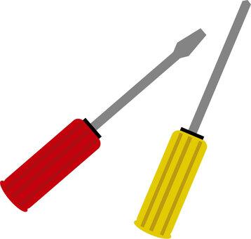 十字螺絲刀和一字螺絲刀