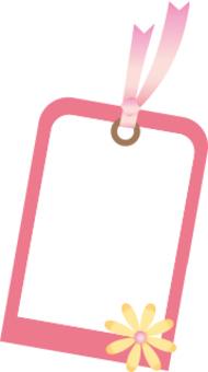 花標記幀粉紅色