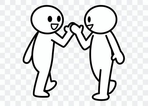 【お題】棒人間-すれ違いざまに挨拶