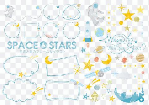 空間和明星框架設置