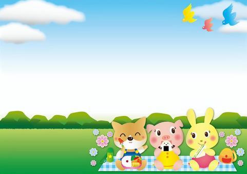 動物野餐框架