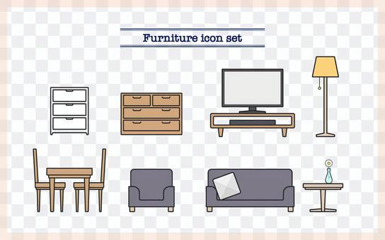 家具圖標集①