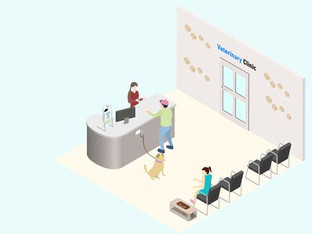 等距動物醫院接待等候室
