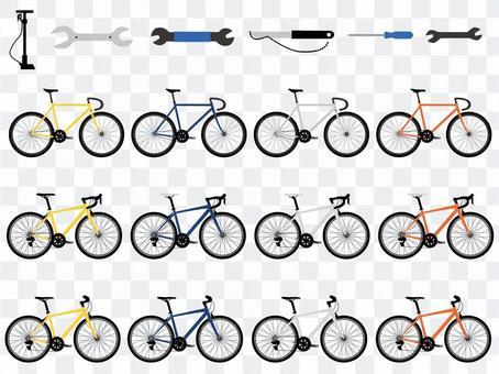 自行車的插圖集