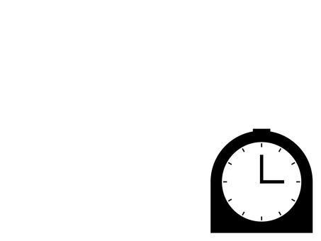 Simple table clock icon: White: 12 scales