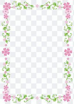 Shiba櫻桃框架背景,A4長度,與腳