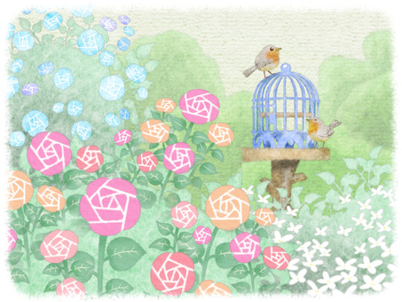 Birds and rose gardens not in the basket