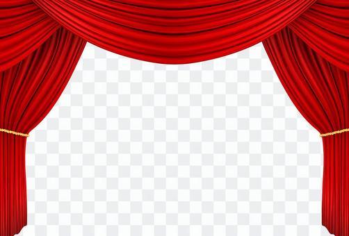 紅色的窗簾07