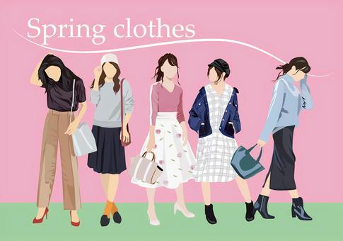 春天的衣服