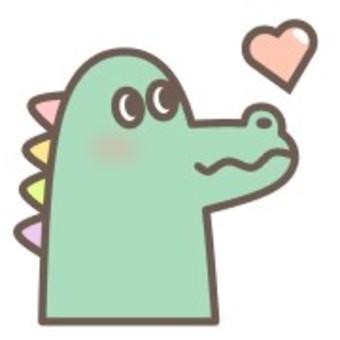 Crocodile animal face cute animal heart