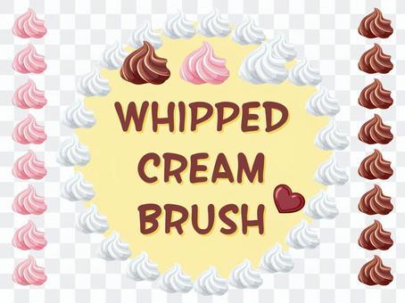 Whipped cream brush