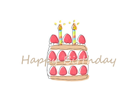 Cute cake birthday card