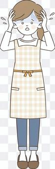 Woman in an apron