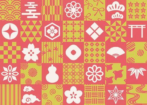 日本圖案素材紅色