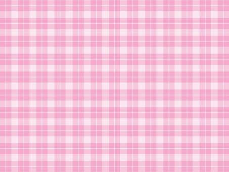 깅엄 체크 핑크