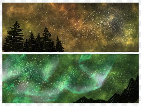 太空星空背景設置綠色