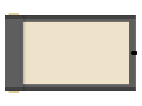 Flat Japanese-style roll frame: black