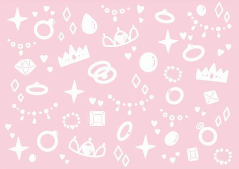 宝石模様の背景 ピンク
