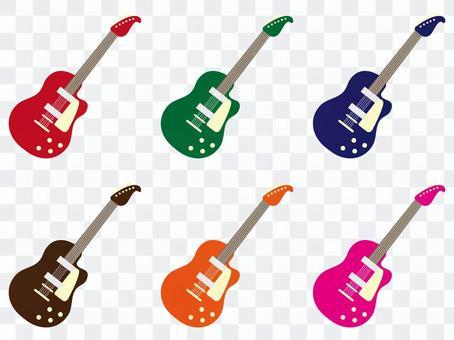 6種電吉他顏色