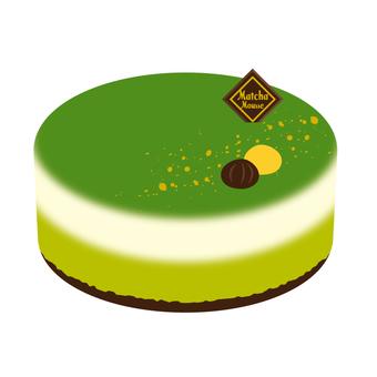 케이크 녹차 무스