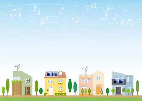 生態世代的城市景觀(陽光和風力)