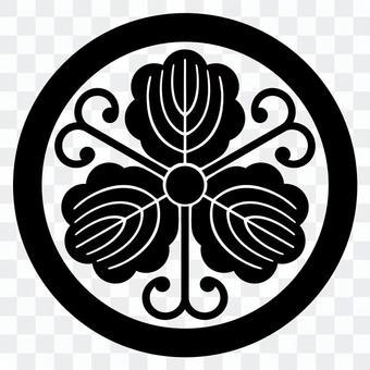 柏紋 원에 蔓柏 일본의 가문