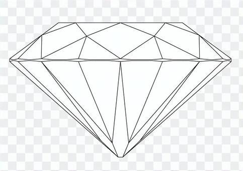 鑽石切割圖(側視圖)