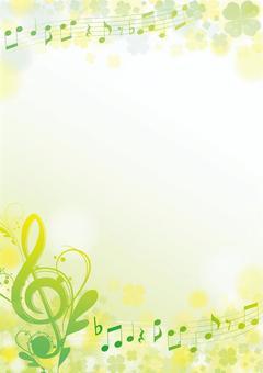 Rape blossoms Color spring elegant note frame