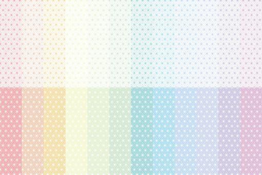 用大麻葉圖案設置的彩虹色