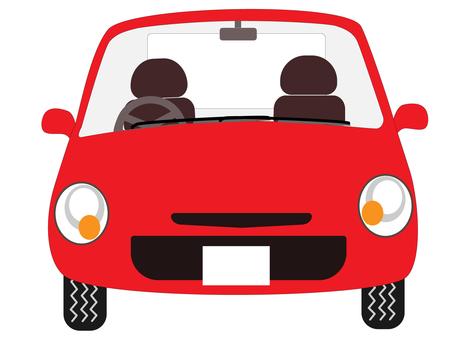 Passenger car-front-red