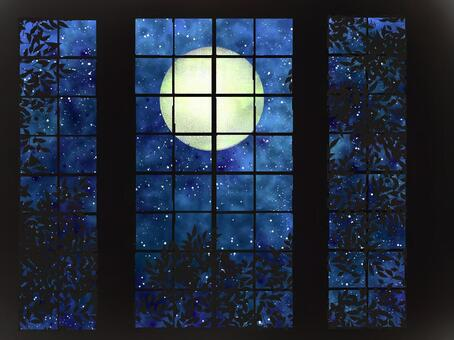Light blurred outside of the window moon