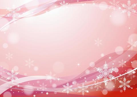 雪水晶框架酒紅色