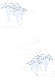 紫藤和自來水明信片