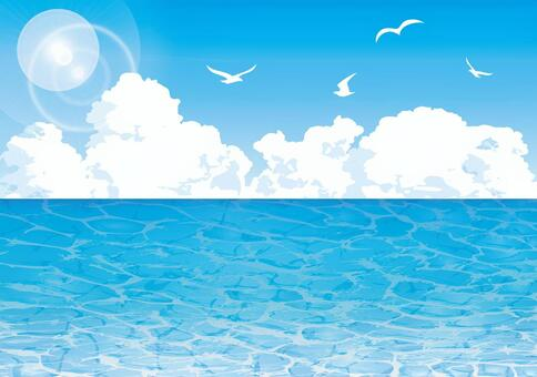 Background sea wave pattern sky immigration cloud seagull tropical overseas wallpaper