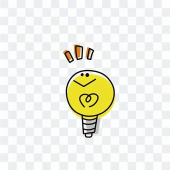 可愛的燈泡圖