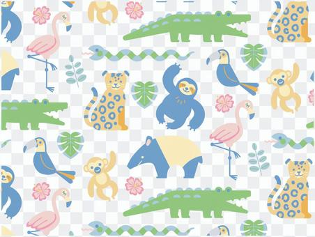 Jungle animal pattern