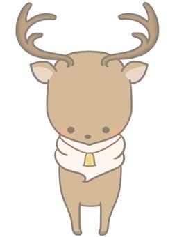可愛的馴鹿與線的插圖