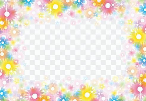 閃閃發光的清晰的花框架2