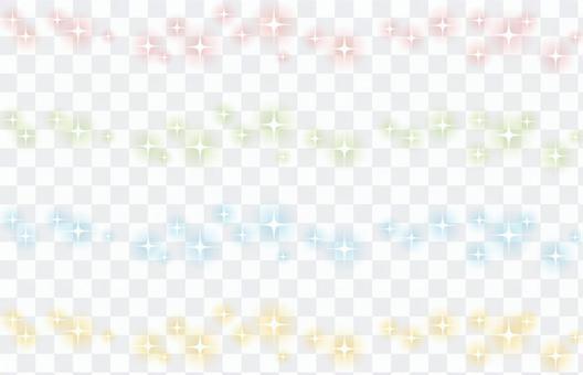 Line of glitter