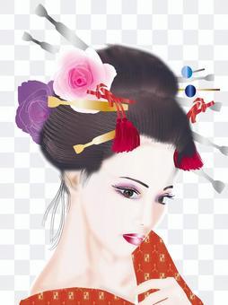 Japanese hair lady 13