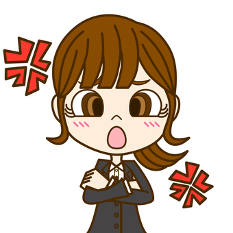 Angry woman ③ / suit