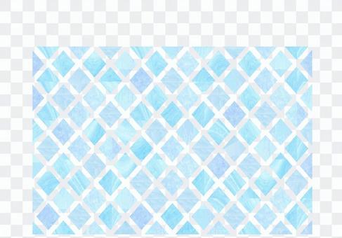 水彩淺藍色菱形圖案