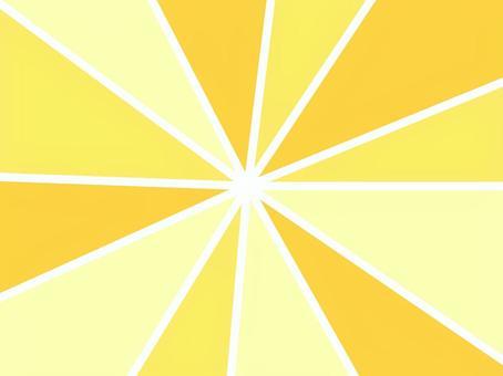 夏のイメージの集中線
