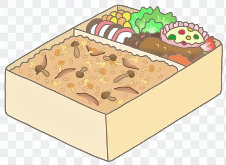 蘑菇米飯盒午餐