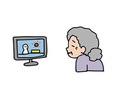 奶奶看電視劇